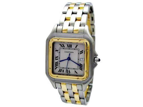 Midsize Cartier 18K Gold & Stainless Steel Panthere Watch