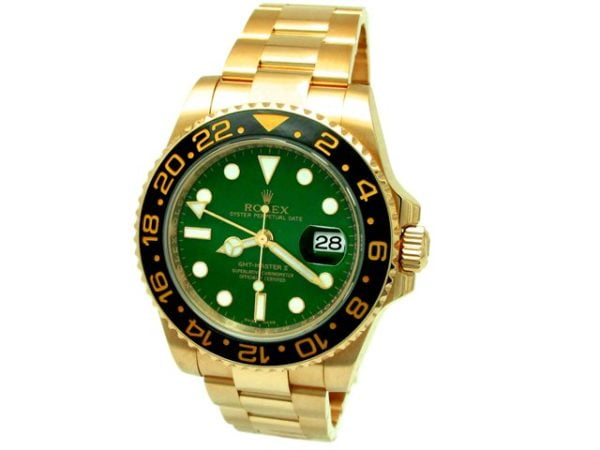 Gents Rolex 18K Yellow Gold Oyster Perpetual GMT-Master II Watch.  116718.