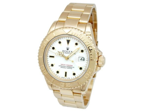 Rolex 18k Yellow Gold Oyster Perpetual Yachtmaster Watch