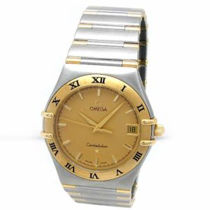 Midsize Omega 18k Yellow Gold and Stainless Steel Constellation Watch