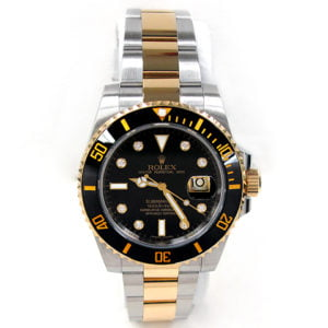 Rolex 18k Gold & Stainless Steel Oyster Perpetual Submariner Watch