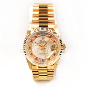 Gents Rolex 18k Yellow Gold Oyster Perpetual Daydate Watch. 18238.