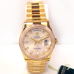 Gents Rolex 18K Yellow Gold Oyster Perpetual Daydate Watch 118348.