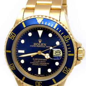 Rolex 18k Gold Oyster Perpetual Submariner 16618