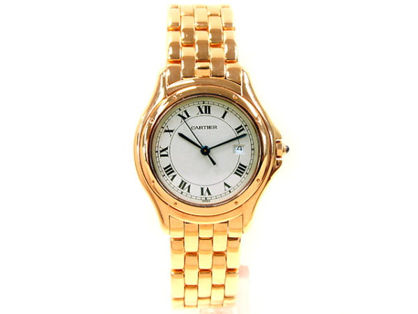 Large Cartier 18K Yellow Gold  Watch.