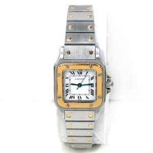 Lady Cartier 18k Gold & Stainless Steel Santos Watch