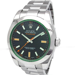 Rolex Stainless Steel Oyster Perpetual Milgauss Watch 116400.