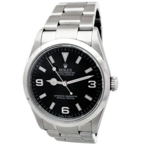 Gents Rolex Stainless Steel Oyster Perpetual Explorer I Watch 114270
