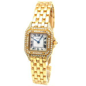 Lady's 18k Yellow Gold Cartier Panthere Watch