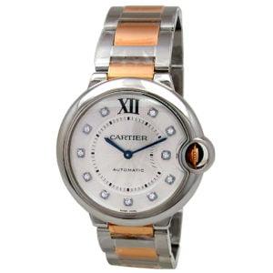Cartier 18K Rose Gold & Stainless Steel Ballon Bleu Watch