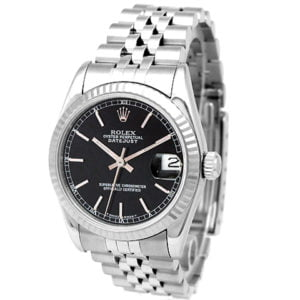 Midsize Rolex Stainless Steel Oyster Perpetual Datejust Watch 68274.