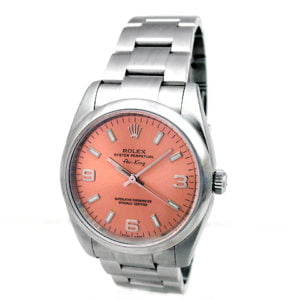 Gents Rolex Stainless Steel Oyster Perpetual Airking Watch 114200.