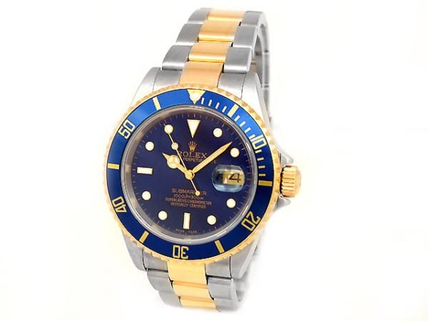 ROLEX SUBMARINER TWO-TONE STAINLESS STEEL & GOLD 16613